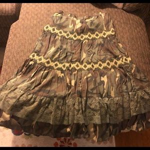 Boho Camo Skirt